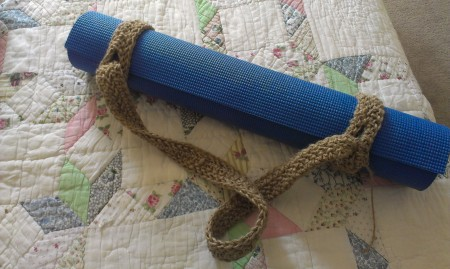 Crocheted yoga mat strap by LorynwithaY